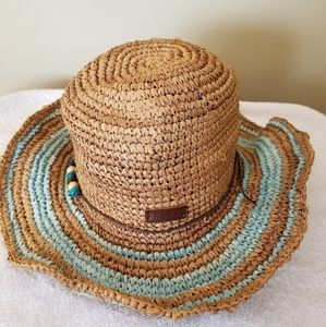 Roxy Hat Straw Floppy Beach Shade Coverup